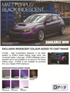 K75565 Matt Purple Black Iridescent Cast Vehicle Wrap